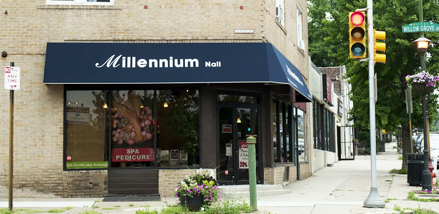 Manicure at Millennium Nail & Spa on Germantown Ave.