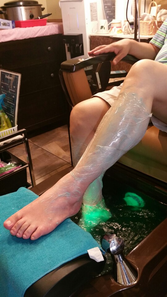 moisturized legs at millenium nail