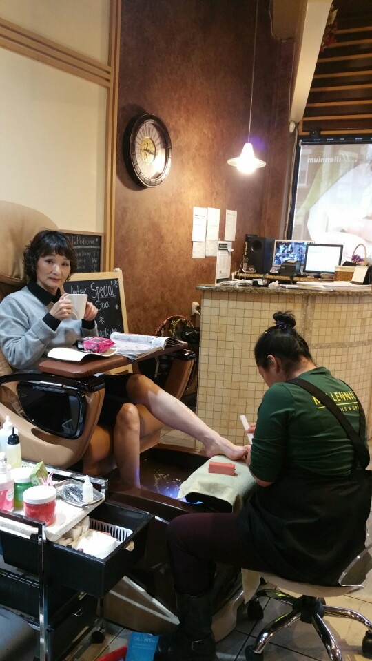 pedicure at Millennium Nail & Spa